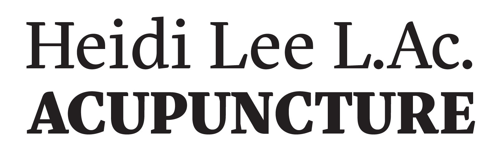 Heidi Lee Acupuncture